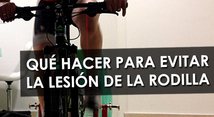 lesion rodilla ciclismo
